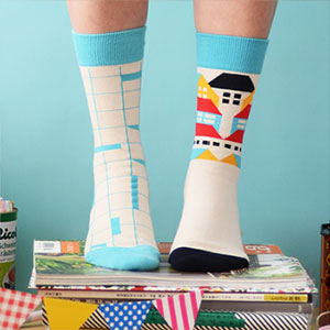 openroom socks-turquoise boy