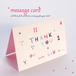 message card -pink thank you